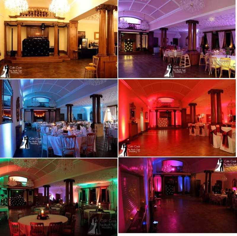 Wedding Moodlighting at Guyzance Hall near Morpeth in Northumberland