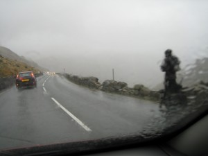 Llanberis Pass in the rain 2009