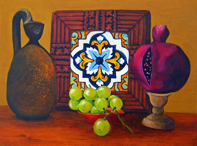 Still Life with Moroccan Tile