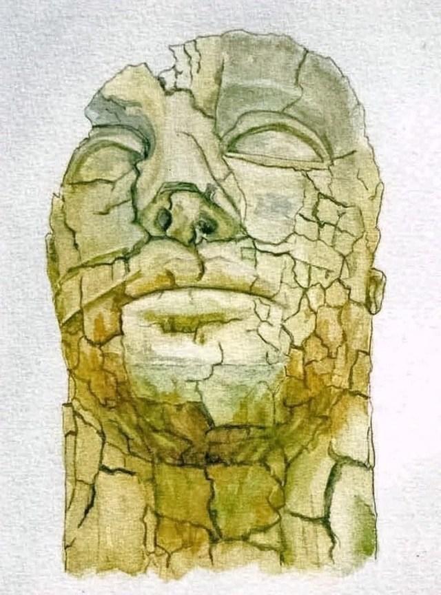Stone Head (I) Boboli Gardens, Florence