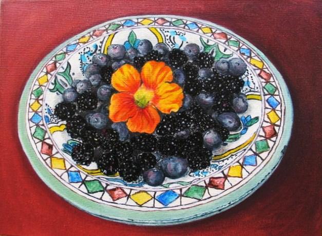 Berries & flower