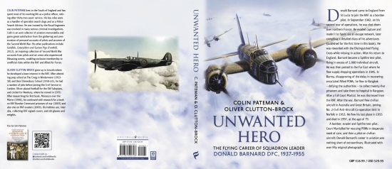 Unwanted Hero By Colin Pateman, Book's Jacket Cover
