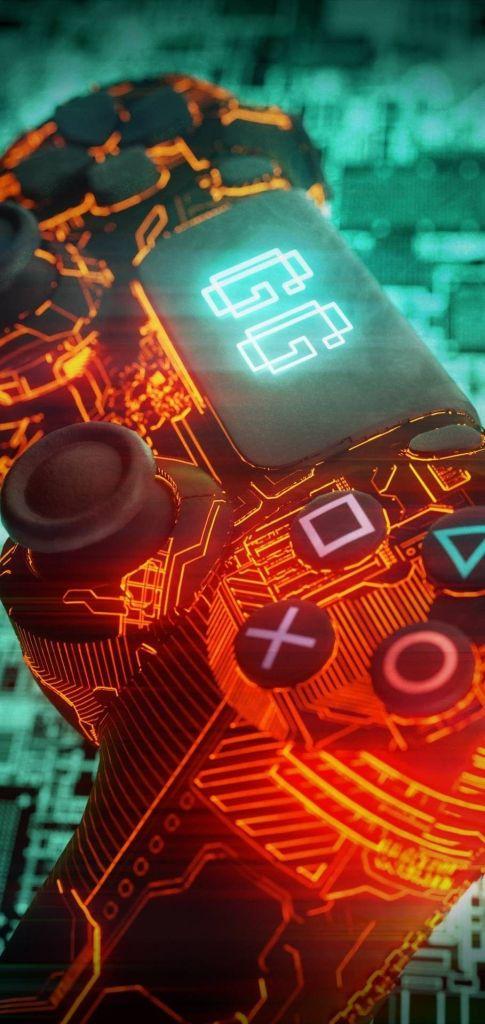 Fondo de pantalla de jugador 4k para playstation móvil