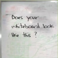 whiteboard surface