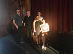 Dr. Eric Olson after performing with Erik Lawrence, Barret Wilber, Anna Smigelskaya and Hyunkyung Ann
