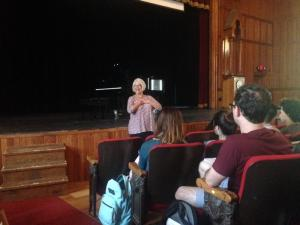Kathleen Kelly during a lecture about how to audition
