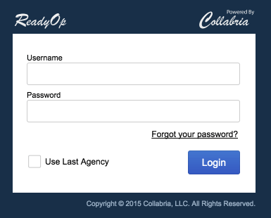 Screenshot: Login Dialog