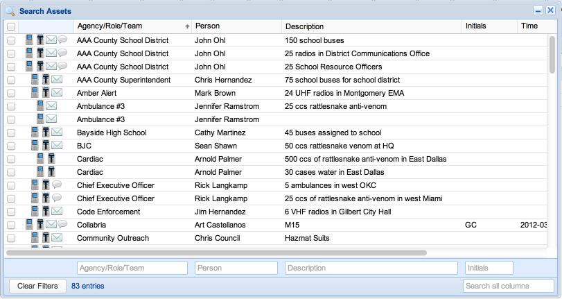 Screenshot: Search Assets