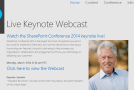 SharePoint Conference keynote streamed live! #SPC14