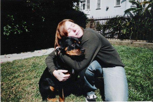 Patty Schemel and dog