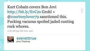 Dave Grohl Courtney Love ass raped Tweet