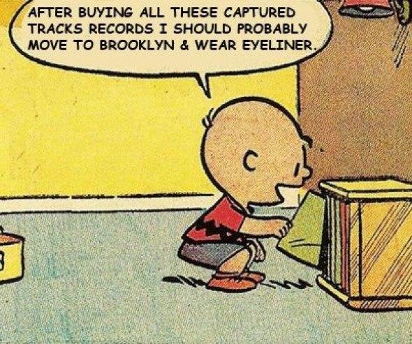 Charlie Brown captured tracks