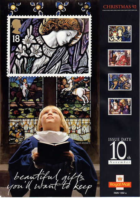 Christmas Stained Glass Windows 1992 Collect GB Stamps