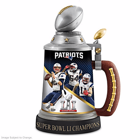 New England Patriots Super Bowl Stein