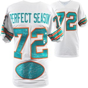 1972 Miami Dolphins 40th Anniversary Edition Autographed White Jersey