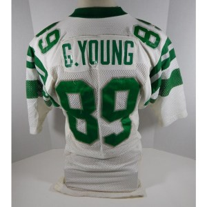 1982 Philadelphia Eagles Glen Young _Number_89 Game Used White Jersey DP05048