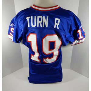 1998 Buffalo Bills Paul Turner _Number_19 Game Issued Blue Jersey