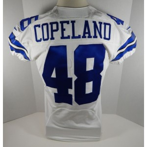 2013 Dallas Cowboys JC Copeland _Number_48 Game Issued White Jersey