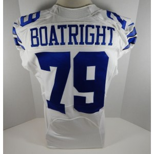 2013 Dallas Cowboys Kenneth Boatright _Number_79 Game Issued White Jersey