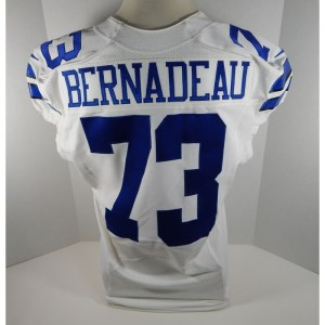 2013 Dallas Cowboys Mackenzy Bernadeau _Number_73 Game Issued White Jersey