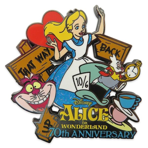 Alice in Wonderland 70th Anniversary Pin Limited Release Official shopDisney