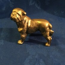 Vintage small standing bulldog