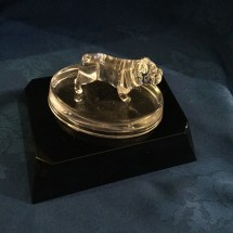Glass bulldogs by Neil Harris