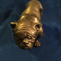 Large heavy bulldog metal unknown
