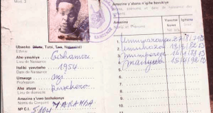 """Carte d'identité """"ethnique"""" : la mention Tutsi figure sous la photo."""
