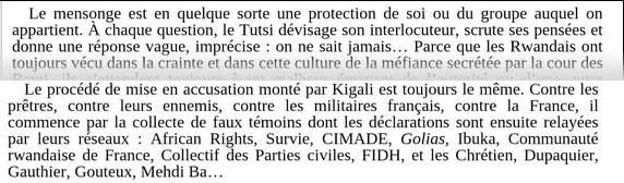 """L'outrance des propos de Pierre Péan (Noires fureurs - blancs menteurs"""") rappellent celle des médias de la haine."""