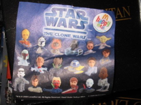McDonalds Star Wars Happy Meal toys