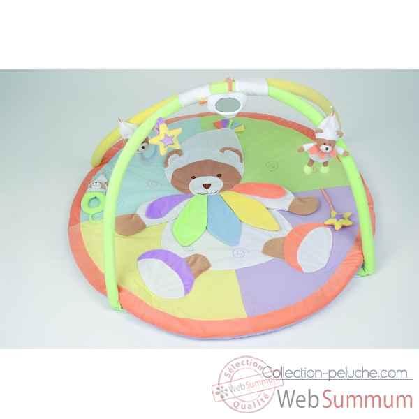 doudou et compagnie doudou tapis d eveil nuage de couleurs dc1006