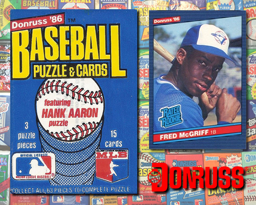 1986 Donruss Baseball Cards Collection Connections