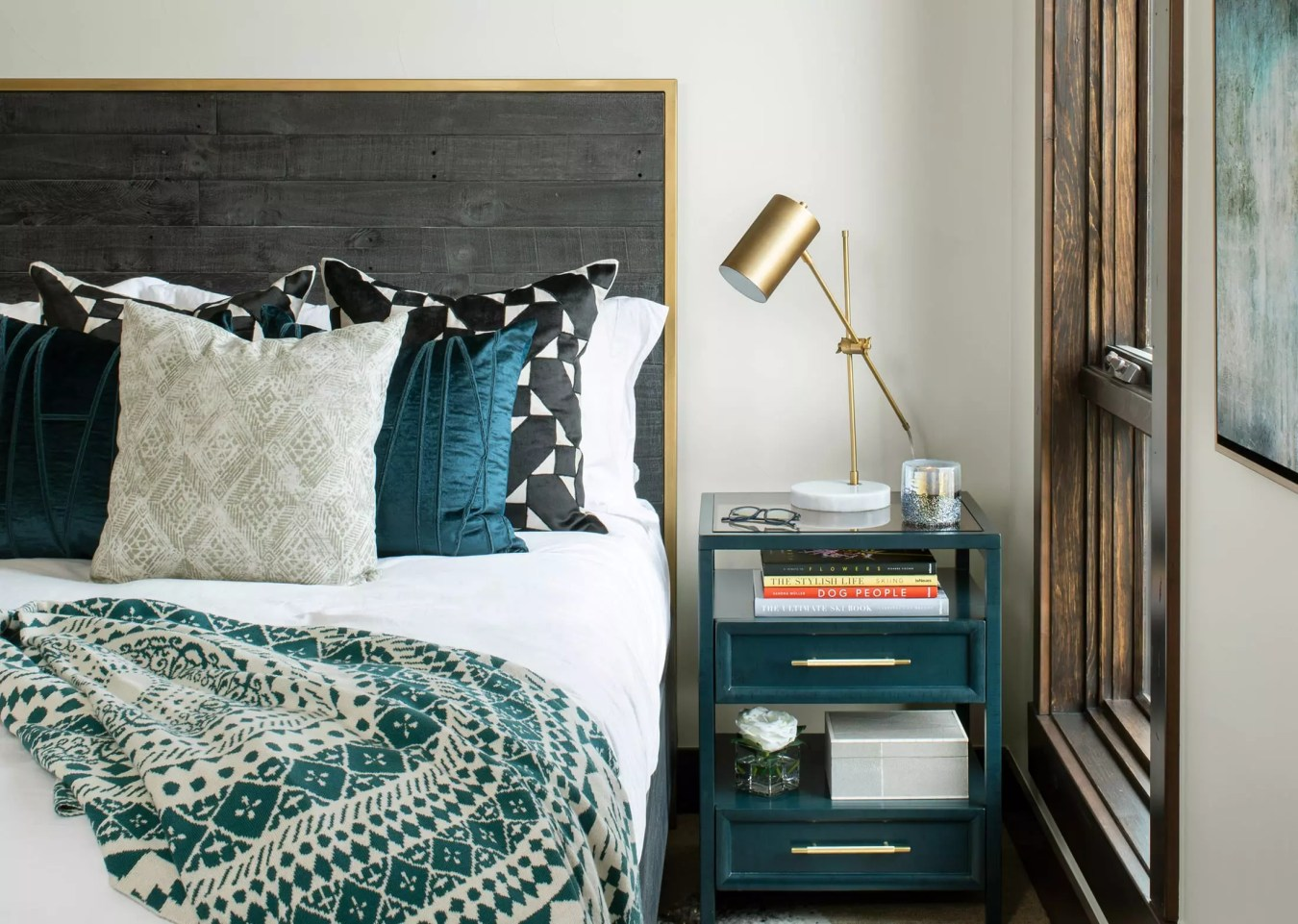 bed and nightstand