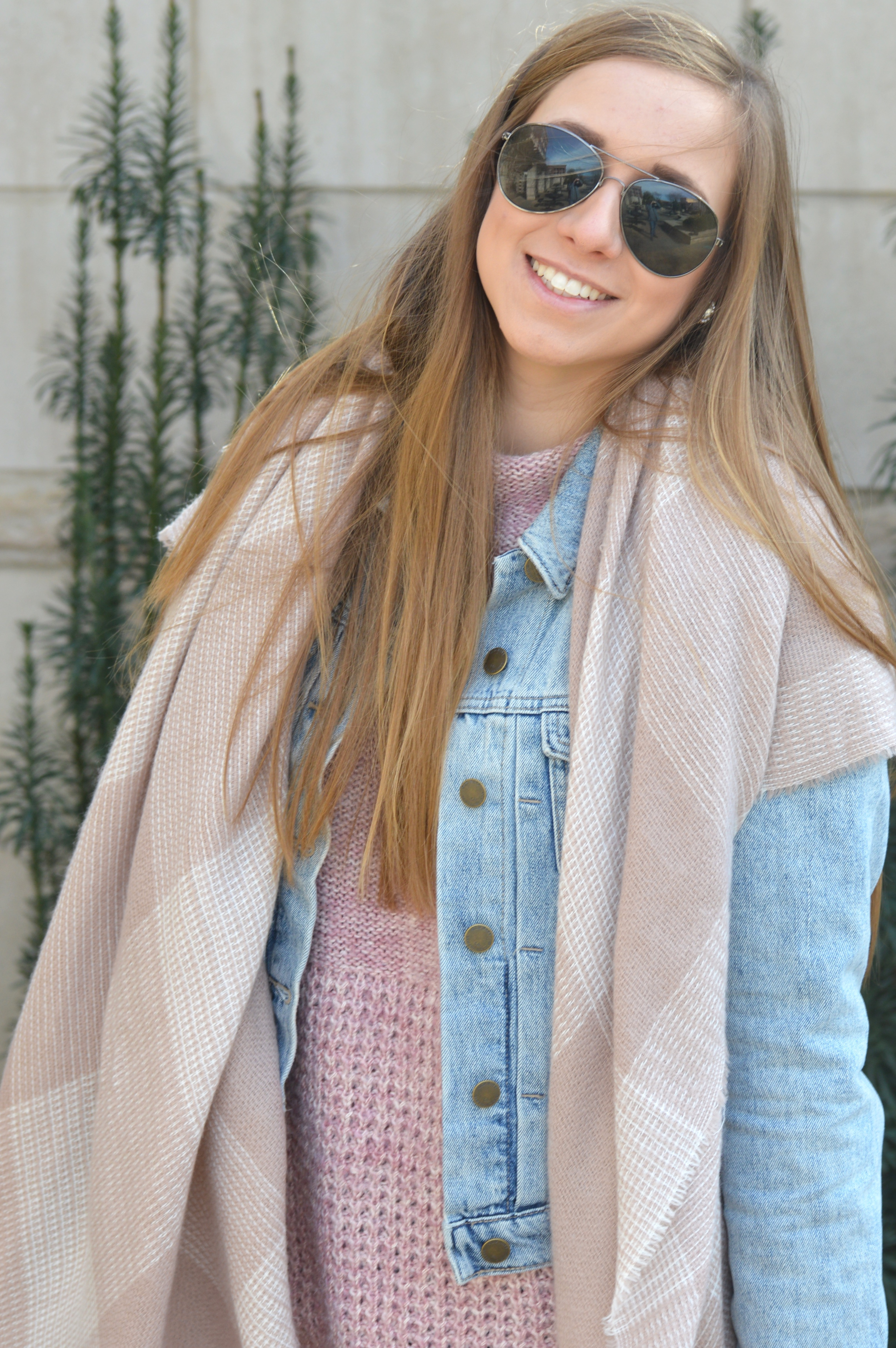 Cozy Knits and Denim Casual Look