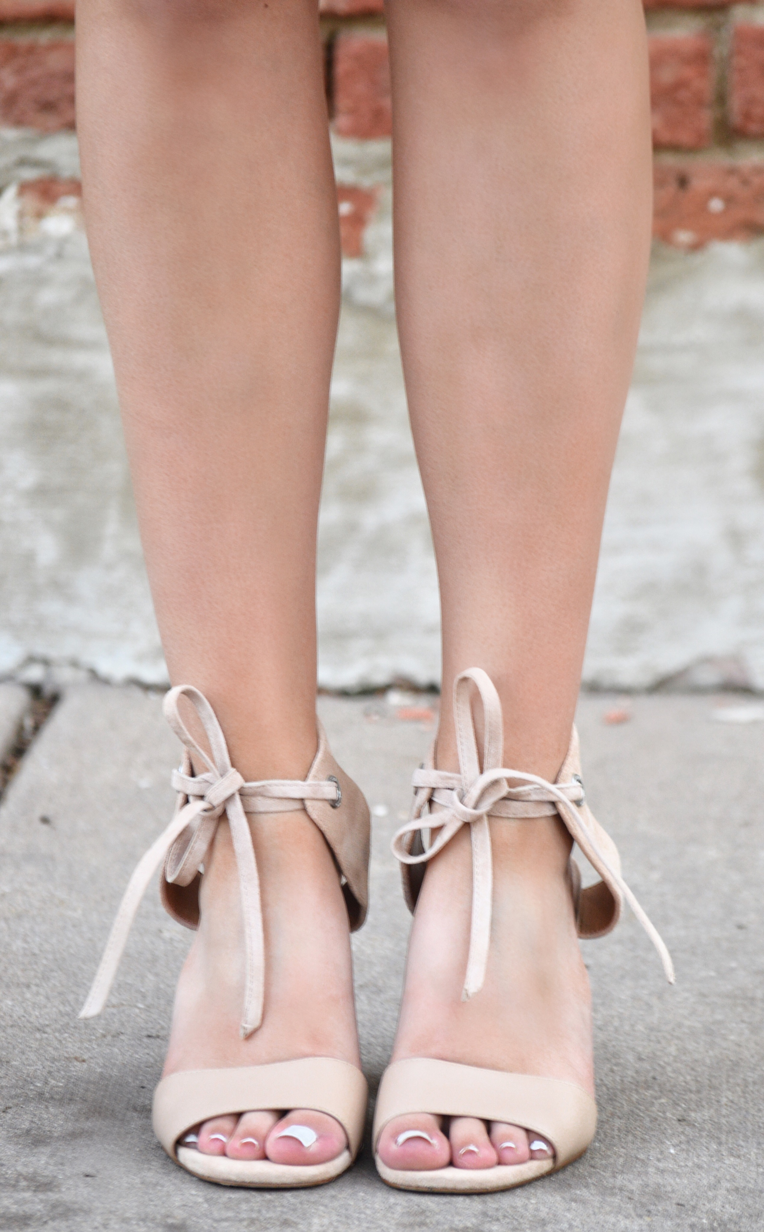 Nude Block Heels