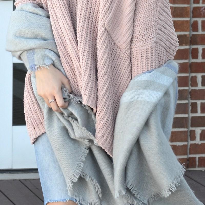 Cozy Fall Sweater in Blush