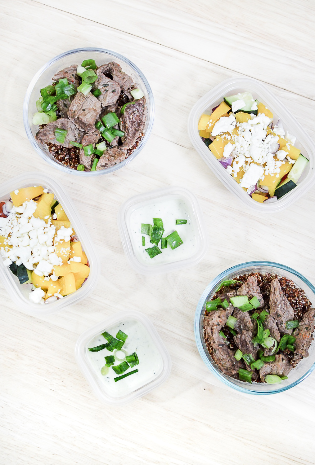 Garlic-Lime Steak Quinoa Bowls
