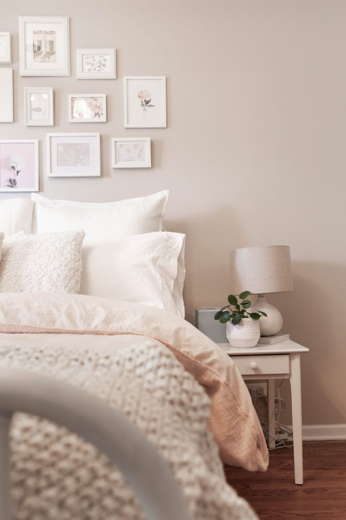 Ivory, Cream and Blush Bedding: Girly and Feminine Bedroom Design