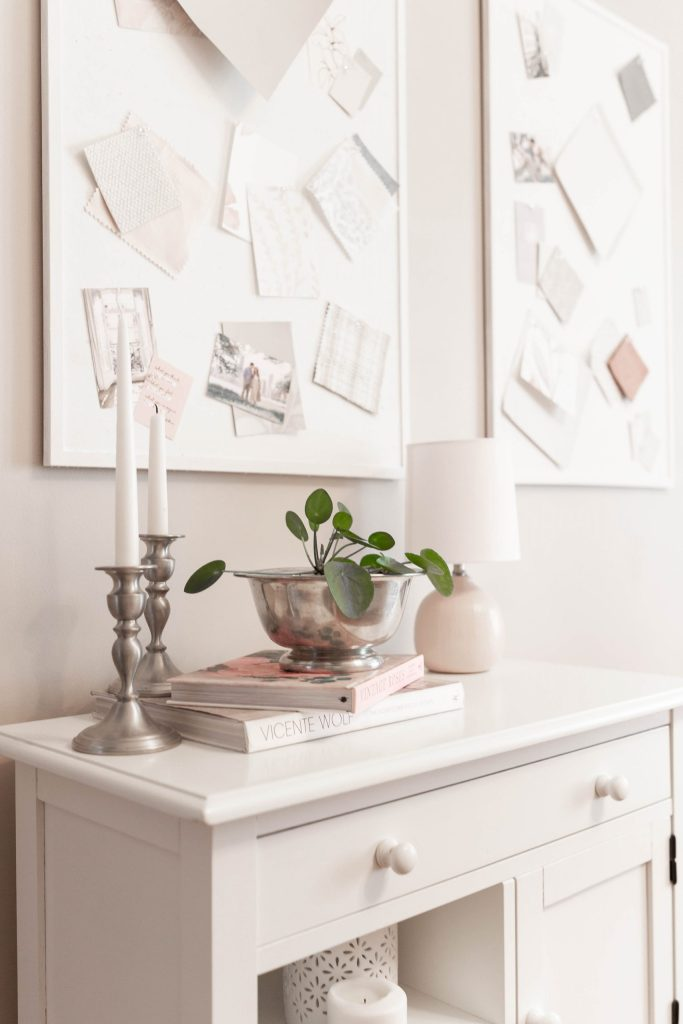 How to Style a Bedroom Dresser with Vintage Pieces, Plants, and Coffee Table Books