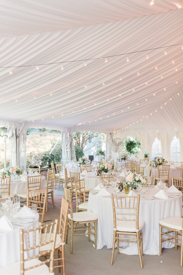 Beautiful Tented Wedding Reception Design