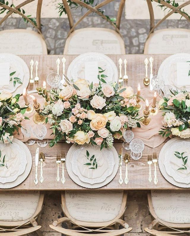 Vintage, Rustic and Contemporary Wedding Tablescape