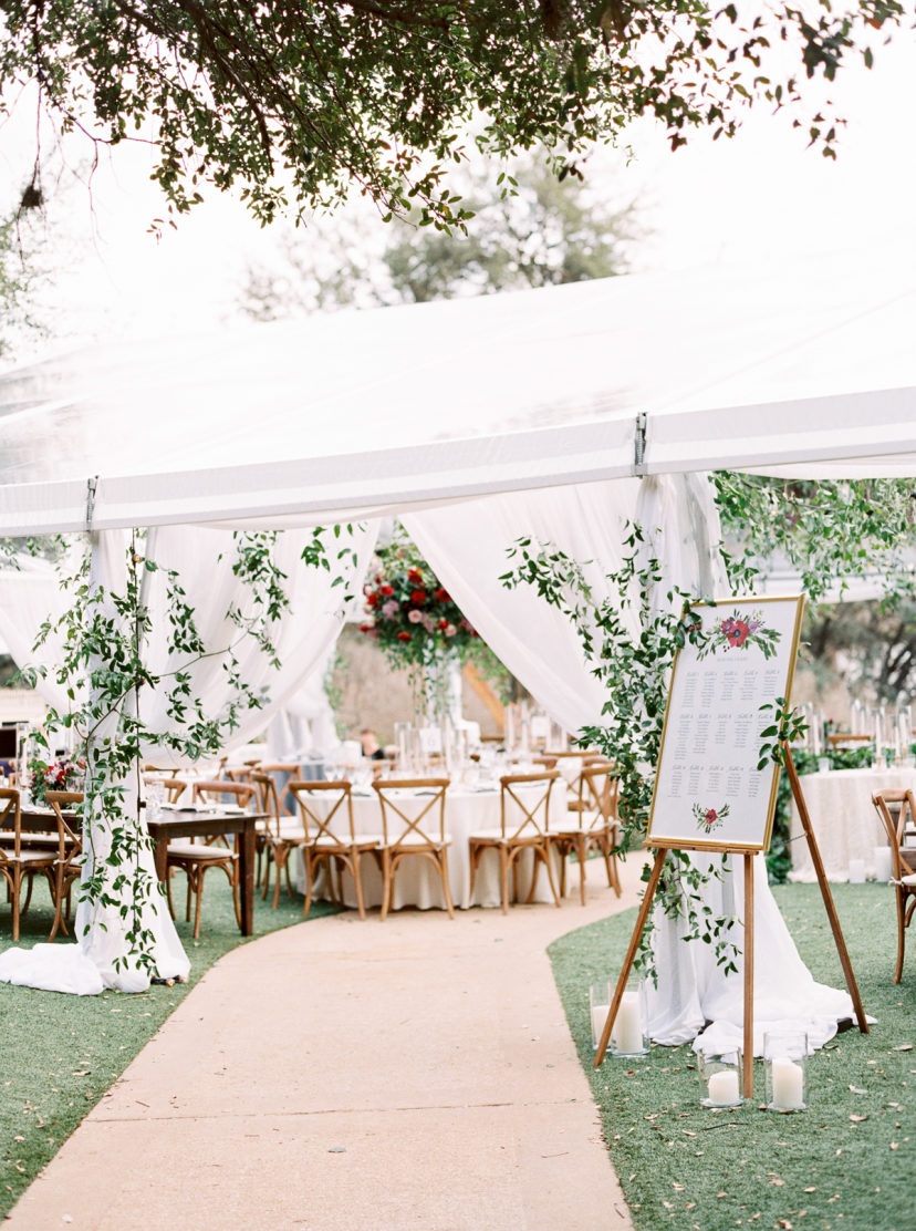 Beautiful Outdoor Tented Wedding Reception