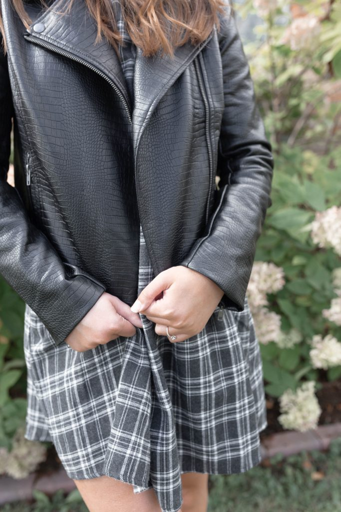 The Essential Fall and Winter Jacket: Faux Leather Moto Jacket