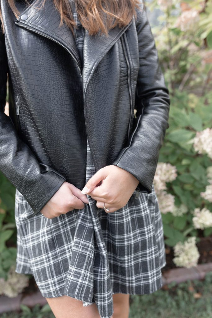 How to Style a Fall Dress: The Perfect Faux Leather Jacket