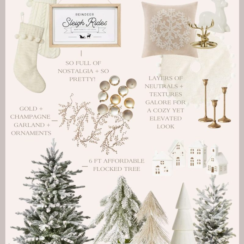 Neutral and Affordable Holiday Home Decor
