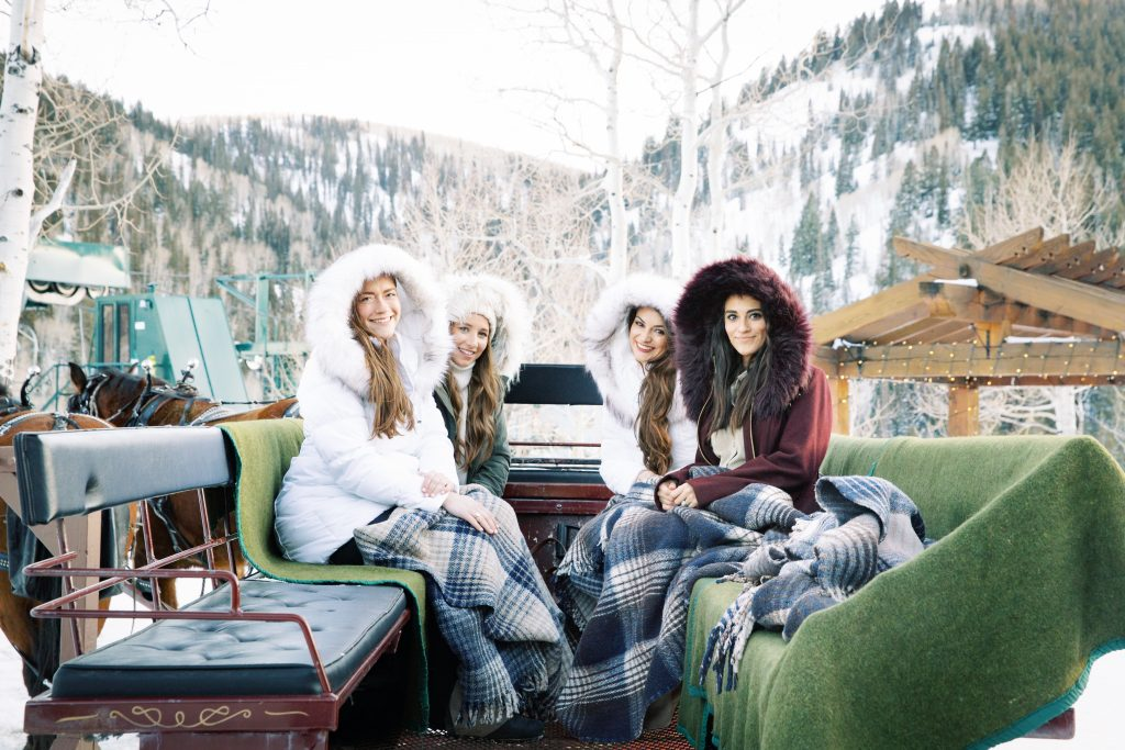 Girls Trip in Park City: Horse Drawn Sleigh Ride in the Mountains