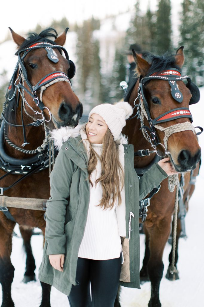 Best Things to Do in Park City: Horse Drawn Sleigh Ride