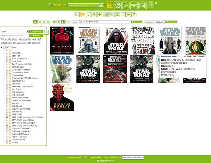 Bücher auf COLLECTORBASE.net