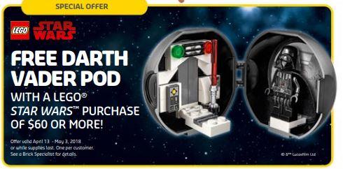 LEGO Darth Vader pod